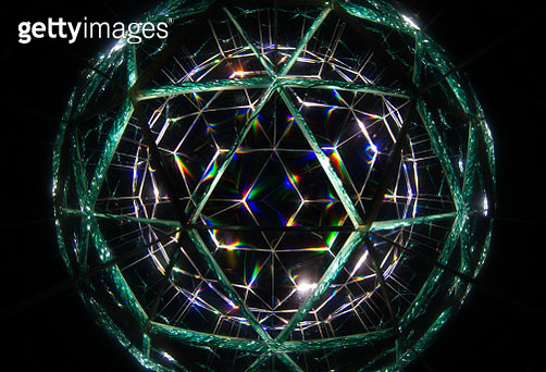 Abstract Light Painting done through a self made Kaleidoscope, consisting of three mirrors. Single long exposure, no Photoshop. - gettyimageskorea