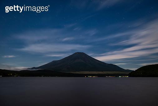 Mt. Fuji over Lake Yamanaka before Dawn - gettyimageskorea