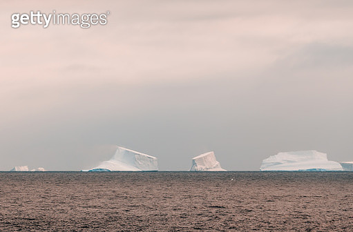 view of iceberg at dusk in the Antarctica - gettyimageskorea