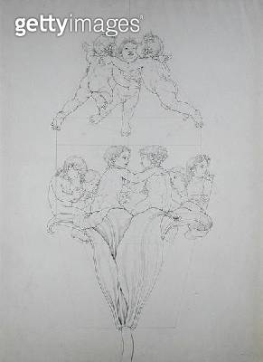<b>Title</b> : The Light Lily, a study for 'The Morning', 1809 (ink on paper)Additional Infofrom a series of scenes symbolically depicting the<br><b>Medium</b> : ink on paper<br><b>Location</b> : Hamburger Kunsthalle, Hamburg, Germany<br> - gettyimageskorea