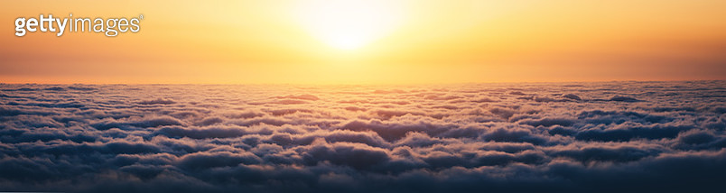 Sunrise Above The Clouds - gettyimageskorea