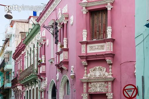 Colorful painted buildings in Havana's Old Town - gettyimageskorea