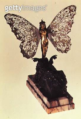 <b>Title</b> : Art Nouveau automated statue of a woman in the form of a butterfly emerging from a cocoon, c.1900<br><b>Medium</b> : <br><b>Location</b> : <br> - gettyimageskorea