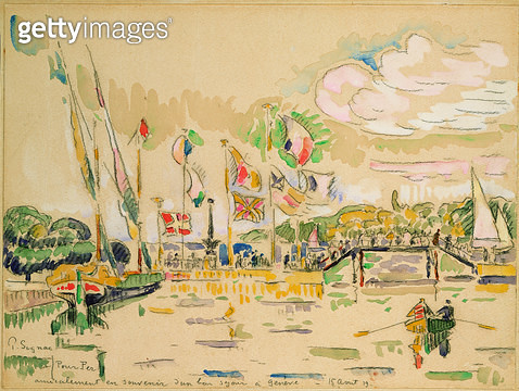 <b>Title</b> : Geneva, c.1919 (w/c)<br><b>Medium</b> : watercolour on paper<br><b>Location</b> : Private Collection<br> - gettyimageskorea
