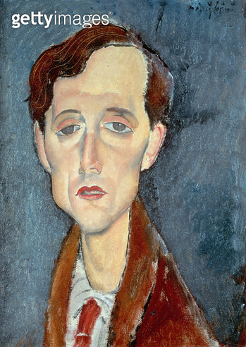 <b>Title</b> : Portrait of Franz Hellens, 1919 (oil on canvas)<br><b>Medium</b> : oil on canvas<br><b>Location</b> : Private Collection<br> - gettyimageskorea