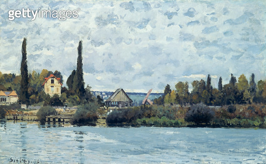 <b>Title</b> : The Seine at Bougival, 1873<br><b>Medium</b> : oil on canvas<br><b>Location</b> : Private Collection<br> - gettyimageskorea