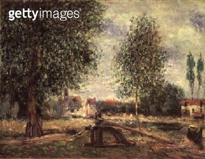 <b>Title</b> : Landscape at Moret-sur-Loing<br><b>Medium</b> : oil on canvas<br><b>Location</b> : Private Collection<br> - gettyimageskorea