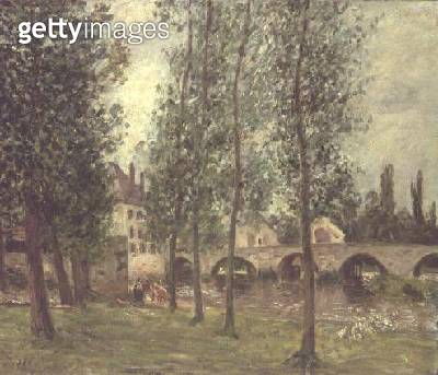 <b>Title</b> : The Bridge at Moret, 1888<br><b>Medium</b> : oil on canvas<br><b>Location</b> : Private Collection<br> - gettyimageskorea