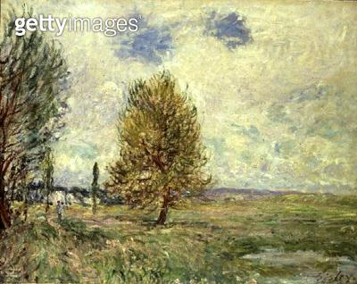 <b>Title</b> : The Plain at Veneux-Nadon<br><b>Medium</b> : oil on canvas<br><b>Location</b> : Private Collection<br> - gettyimageskorea