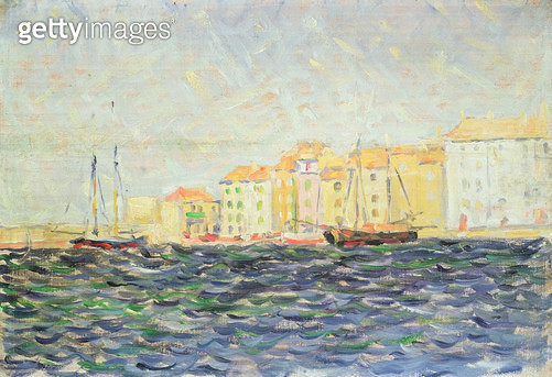 <b>Title</b> : St. Tropez (oil on board)<br><b>Medium</b> : oil on board<br><b>Location</b> : Private Collection<br> - gettyimageskorea
