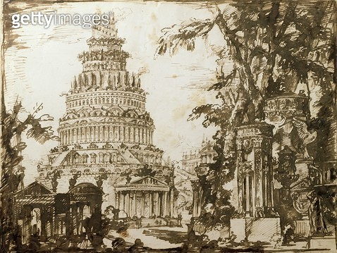<b>Title</b> : Neo-classical Structures (pen & ink on paper)<br><b>Medium</b> : <br><b>Location</b> : Private Collection<br> - gettyimageskorea