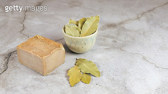Laurus Nobilis ,Aleppo Soap Is A Handmade, Hard Bar Soap Or Ghar Soap Made From Olive Oil And Lye - gettyimageskorea