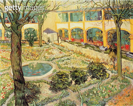 <b>Title</b> : The Asylum Garden at Arles, 1889 (oil on canvas)<br><b>Medium</b> : oil on canvas<br><b>Location</b> : Oskar Reinhart Collection, Winterthur, Switzerland<br> - gettyimageskorea
