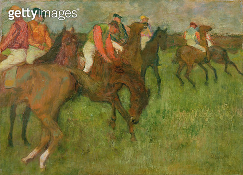 <b>Title</b> : Jockeys, 1886-90<br><b>Medium</b> : oil on canvas<br><b>Location</b> : Private Collection<br> - gettyimageskorea