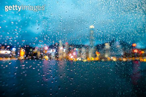 Wet Glass Window In Rainy Season - gettyimageskorea