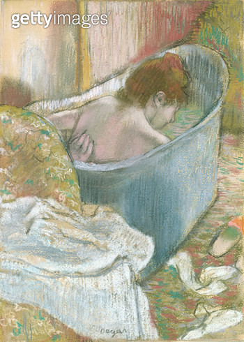 The Bath (pastel) - gettyimageskorea