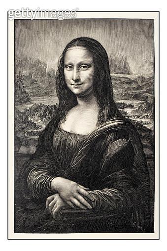 Leonardo's sketches and drawings: Mona Lisa (La Gioconda) - gettyimageskorea