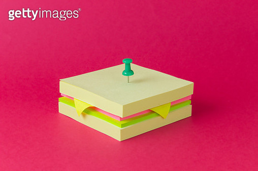 Conceptual sandwich made from sticky notes - gettyimageskorea