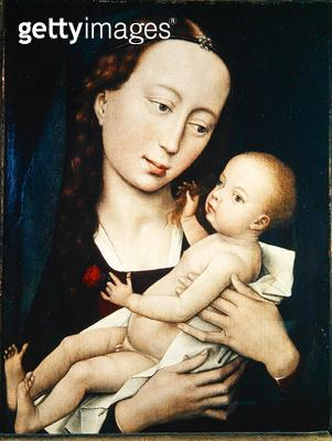 <b>Title</b> : The Virgin and Child, 1455 (oil on panel)<br><b>Medium</b> : oil on panel<br><b>Location</b> : Kurpfalzisches Museum, Heidelberg, Germany<br> - gettyimageskorea