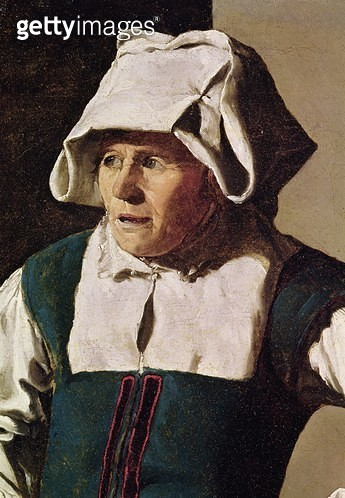 <b>Title</b> : Old Woman, detail of the head, c.1618-19 (oil on canvas) (detail of 242455)<br><b>Medium</b> : oil on canvas<br><b>Location</b> : Fine Arts Museums of San Francisco, CA, USA<br> - gettyimageskorea