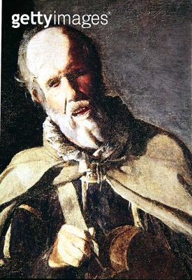 <b>Title</b> : The Hurdy Gurdy Player with his Dog, detail of the head, 1620s (oil on canvas)<br><b>Medium</b> : oil on canvas<br><b>Location</b> : Musee Municipal, Bergues, France<br> - gettyimageskorea