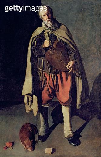 <b>Title</b> : The Hurdy Gurdy Player with his Dog, 1620s (oil on canvas) (see also 181976)<br><b>Medium</b> : oil on canvas<br><b>Location</b> : Musee Municipal, Bergues, France<br> - gettyimageskorea