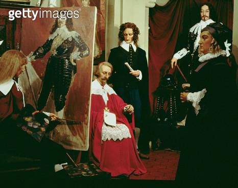 <b>Title</b> : Louis XIII (1601-43) in the workshop of Philippe de Champaigne (1602-74) (wax)<br><b>Medium</b> : <br><b>Location</b> : Musee Grevin de la Belle Epoque, Paris, France<br> - gettyimageskorea