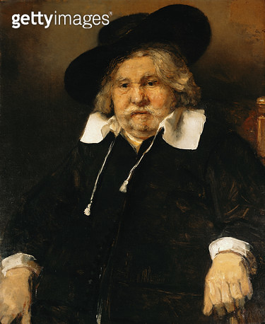 <b>Title</b> : Portrait of an old man, 1667 (oil on canvas)<br><b>Medium</b> : oil on canvas<br><b>Location</b> : Mauritshuis, The Hague, The Netherlands<br> - gettyimageskorea