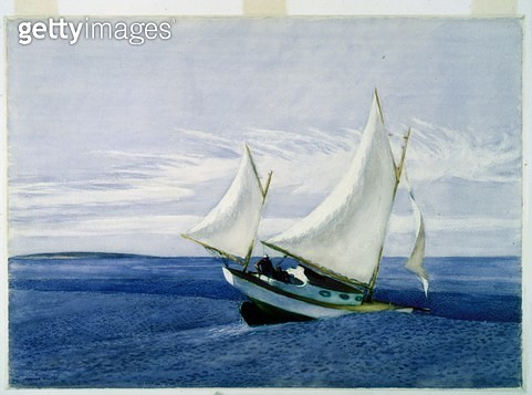 <b>Title</b> : Yawl Riding a Swell (w/c over graphite on paper)<br><b>Medium</b> : <br><b>Location</b> : Worcester Art Museum, Massachusetts, USA<br> - gettyimageskorea