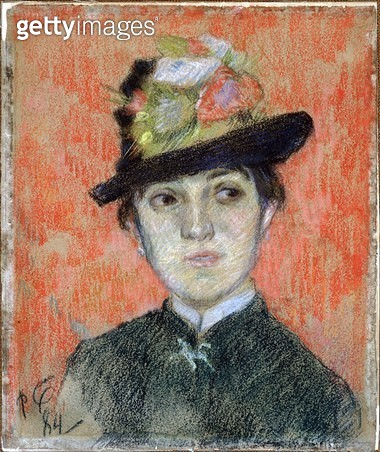 <b>Title</b> : Portrait of Mademoiselle Manthey, 1884 (pastel on paper)<br><b>Medium</b> : pastel on paper<br><b>Location</b> : Worcester Art Museum, Massachusetts, USA<br> - gettyimageskorea