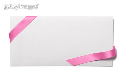 Envelope with Pink Ribbon - gettyimageskorea