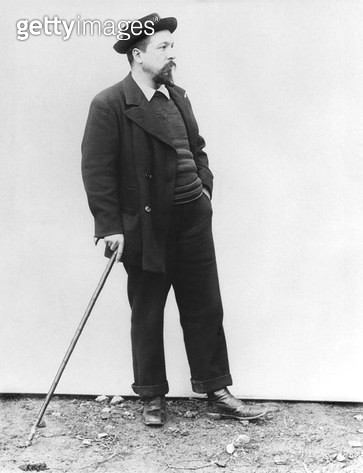 <b>Title</b> : Paul Signac (1863-1935) c.1900 (b/w photo)<br><b>Medium</b> : <br><b>Location</b> : Private Collection<br> - gettyimageskorea