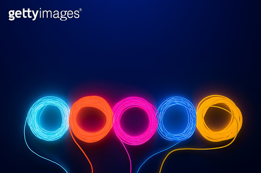 Colorful Illuminated LED Wire - gettyimageskorea