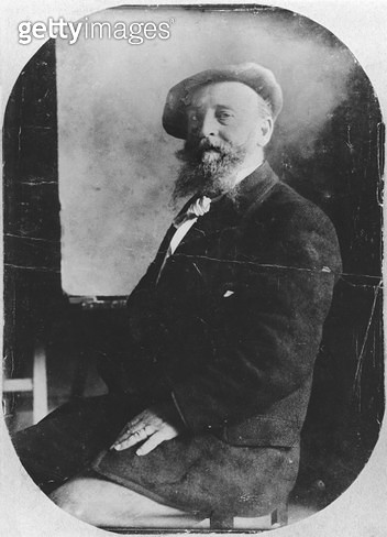<b>Title</b> : Alfred Sisley (1839-99) c.1895 (b/w photo)<br><b>Medium</b> : <br><b>Location</b> : Private Collection<br> - gettyimageskorea