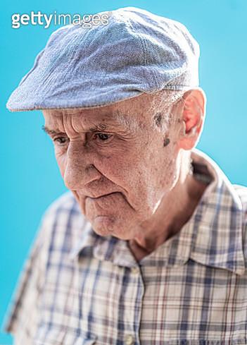 Senior man portrait on background - gettyimageskorea