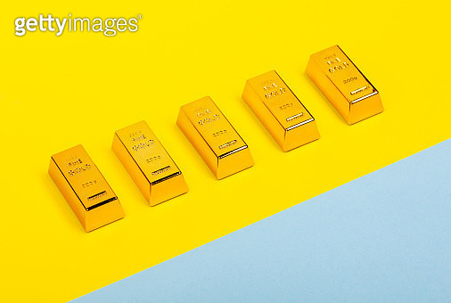 High Angle View Of Ingot Over Two Tone Background - gettyimageskorea