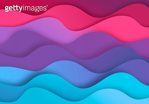 Abstract zig-zag background with paper cut shapes - gettyimageskorea