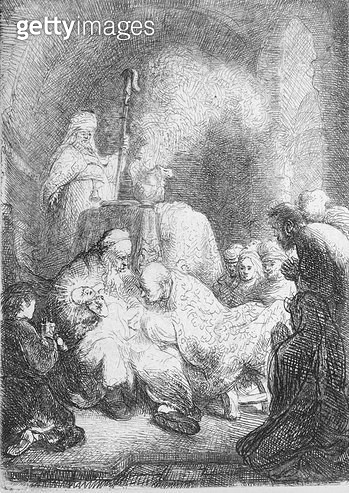 <b>Title</b> : The Circumcision (pen & ink on paper)<br><b>Medium</b> : pen and ink on paper<br><b>Location</b> : Leeds Museums and Galleries (City Art Gallery) U.K.<br> - gettyimageskorea