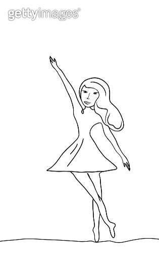 Beautiful dancing woman - gettyimageskorea