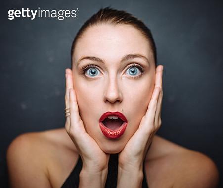 Portrait of blonde model - gettyimageskorea