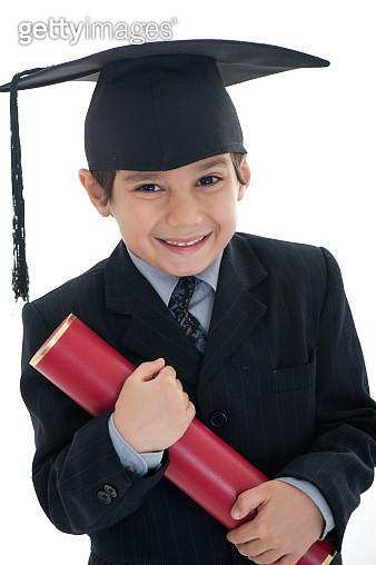 Little boy graduate - gettyimageskorea