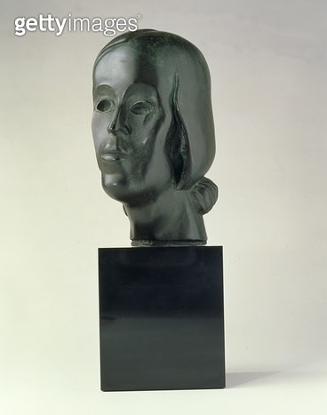 <b>Title</b> : Head of a woman (bronze)<br><b>Medium</b> : bronze<br><b>Location</b> : Private Collection<br> - gettyimageskorea