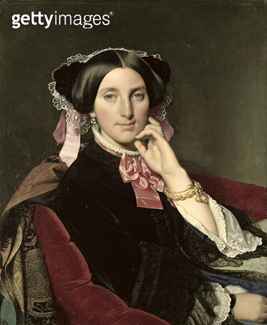 <b>Title</b> : Madame Gonse, 1852 (oil on canvas)<br><b>Medium</b> : oil on canvas<br><b>Location</b> : Musee Ingres, Montauban, France<br> - gettyimageskorea