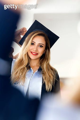 In front of Graduation woman - gettyimageskorea
