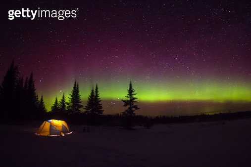 Aurora campsite - gettyimageskorea