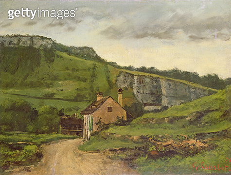<b>Title</b> : A Country Cottage<br><b>Medium</b> : oil on canvas<br><b>Location</b> : Private Collection<br> - gettyimageskorea