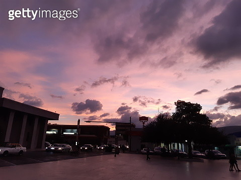Silhouette City Street Against Sky At Sunset - gettyimageskorea