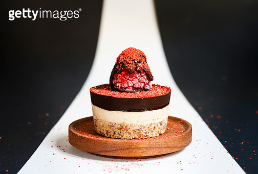 Raspberry Cheesecake for One - gettyimageskorea