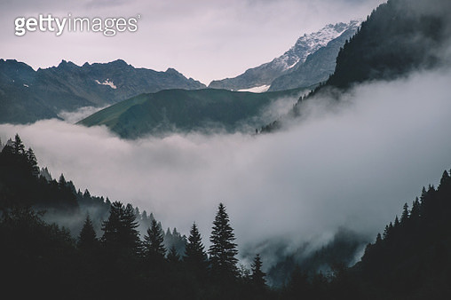 Scenic View Of Mountains Against Sky - gettyimageskorea