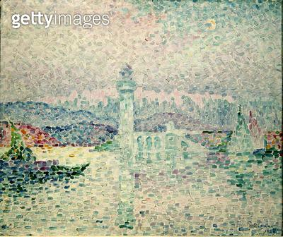 <b>Title</b> : The Lighthouse at Antibes, 1909 (oil on canvas)<br><b>Medium</b> : oil on canvas<br><b>Location</b> : Musee des Beaux-Arts, Nantes, France<br> - gettyimageskorea